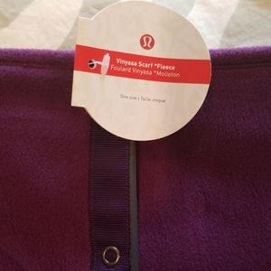 NWT lululemon Fleece Vinyasa Scarf Rich Purple
